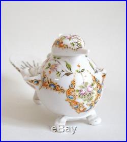 Fine antique Turkish opaline Beykoz glass bird