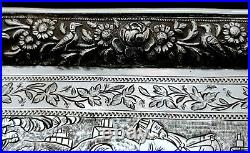 Finest Antique 19th C Persian Style Middle Eastern Islamic Solid Silver Dish #2