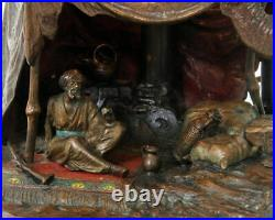 Franz Bergman Orientalist Bronze Lamp