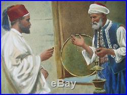 Giulio Rosati antique middle eastern painting orientalist Italian art watercolor