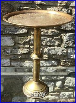Good Quality ANTIQUE SYRIAN WINE TABLE Islamic Design & Made In HEAVY BRASS