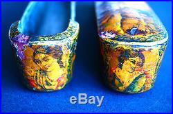High Quality Persian Qajar Ottoman Papier Mache Lacquer Pen Box Case Qalamdan