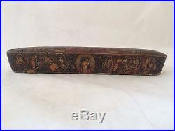 Hand Painted Islamic Persian Qajar Papier Mache Pen Box Qalamdan 19 Th Century