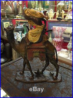 Huge Austrian Vienna Bronze Orientalist Ottoman Arab Warior