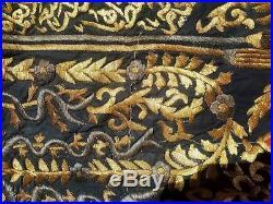Huge Islamic Arabic Cairoware Inlaid With Brass Ottoman Curtain Caabba 250×160