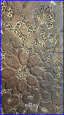 Huge antique ornate pierced copper tray persian kasmiri islamic eastern