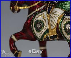 Indian Mughal 22k Karat Gold Figurine Desk Ornament Jaipur Enamel 1 Of 6