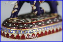 Indian Mughal 22k Karat Gold Figurine Desk Ornament Jaipur Enamel 4 Of 6