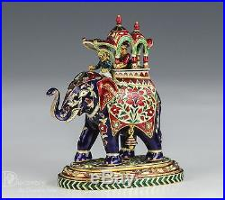 Indian Mughal 22k Karat Gold Figurine Desk Ornament Jaipur Enamel 6 Of 6