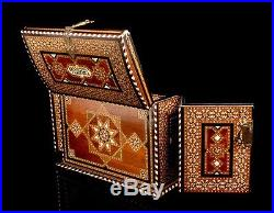 Impressive Large Antique Arab Cabinet Chest or Jewelry Box. Made Circa 1900