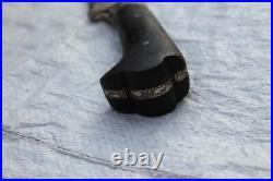 Indo Persian Mughal Islamic Silver Inlaid Ottoman Afghan Pesh Kabz/khyber Knife