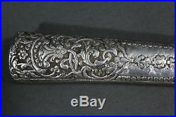 Indo Persian peshkabz dagger with silver plated grip India, 19th century