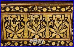 Indo-Portuguese Bone-Inlaid Fall Front Cabinet, Mughal India, 17th-18th Century