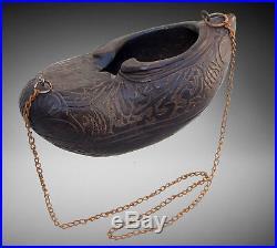 Islamic Bettelschale Kashkul Kashkool wooden Begging Bowl Sufi Dervash No6