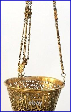 Islamic Copper mosque Lamp (plated gold)