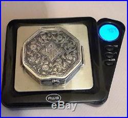 Islamic Koran Amulet Box Antique 19thC Silver niello Jewelry Quran case