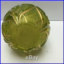 Islamic Lime-green Cut Glass Hookah Base 19th Century (26)
