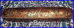 Islamic/ Middle Eastern, ANTIQUE PERSIAN HAND PAINTED QALAMDAN PEN BOX 1850-1899