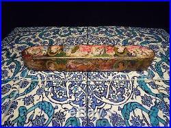Islamic/ Middle Eastern, ANTIQUE PERSIAN LAQUERED QALAMDAN PEN BOX QAJAR 1850