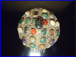 Islamic/ Middle Eastern, Antique Oriental Trinket box with precious stones 1900