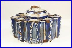 Islamic Spanish / Moroccan 18th / 19th C. Glazed Pottery Inkwell Pen Stand