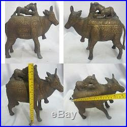Khorasan islamic Writing Bronze Aquamanile in the Form of a Cow