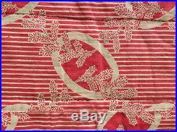 LARGE ANTIQUE EARLY 20thC UZBEKISTAN HANDMADE EMBROIDERED SILK ON COTTON SUZANI
