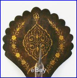 LARGE ANTIQUE ISLAMIC PEACOCK (inlaid gold)