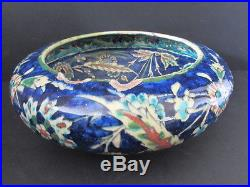 Large Antique Jerusalem / Armenian / Palestine / Iznik Pottery Bowl 19th Century