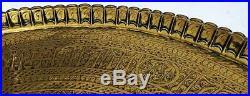 LARGE CAIROWARE ISLAMIC MAMLUK REVIVAL BRASS TRAY c1900 26.4