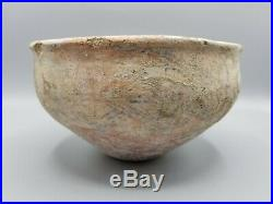 LARGER ANCIENT MIDDLE EASTERN PAINTED POTTERY BOWL c1000BCE