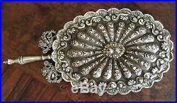 Large Antique Islamic Turkish Ottoman Silver Mirror