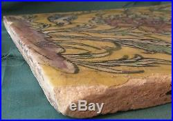 Large Antique Oriental Middle Eastern Persian Tile in Yellow