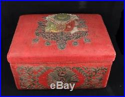 Large Fine Antique Islamic Ottoman Turkish Box Sandik Tughra Marked