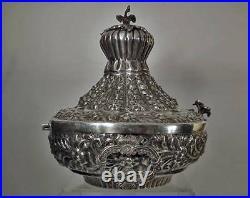 Large Old Islamic Silver Box Egypt Former Turkish Ottoman Empire