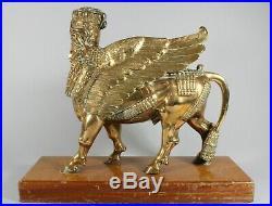 Large Victorian Polished Bronze Lamassu Sculpture c. 1880