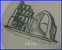 MIDDLE EASTERN SOLID SILVER NIELLO TRINKET DESK BOX c1920 ANTIQUE