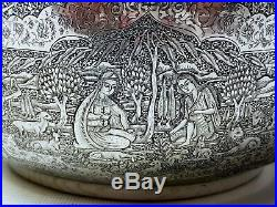 MUSEUM WORTHY Antique Persian Style Middle Eastern Islamic Silver Bowl by LAHIJI