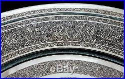 MUSEUM WORTHY Antique Persian Style Middle Eastern Islamic Silver Tray by LAHIJI