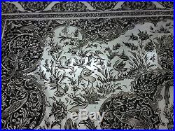 MUSEUM WORTHY Antique Persian Style Middle Eastern Islamic Silver Tray by MARTIN