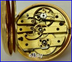MUSEUM antique LeRoy a Paris 14k gold pocket watch for Ottoman Sultan's Court