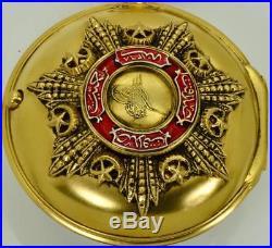 MUSEUM antique Ottoman Edward Prior&Barber Verge Fusee gild silver&enamel watch