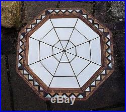 Magnificent Antique Octagonal Morrocan Wooden Inlaid Table