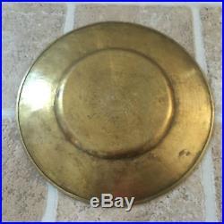 Magnificent Antique Small Qajar qalamzani Brass Plate