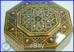 Middle Eastern Syrian Inlaid Marquetry Mosaic Octagonal Jewelry Box