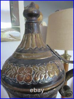 Monumental 23 Middle Eastern Arabia Arabic coffee Tea pot Dallah