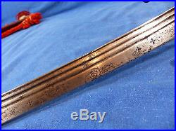 Moroccan nimcha sabre (sword) from 19th with a much earlier blade