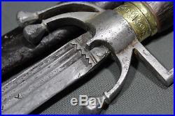 Moroccan nimcha sword with blade signed ANDREA FERARA 17th 18th century