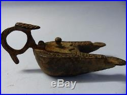 Most Unusual Early Double Oil Burner Arabic Style Calligraphy Very Rare L@@k