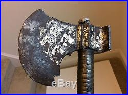 Nice Old Antique Indian Middle Eastern Central Asian Battle Axe No Sword
